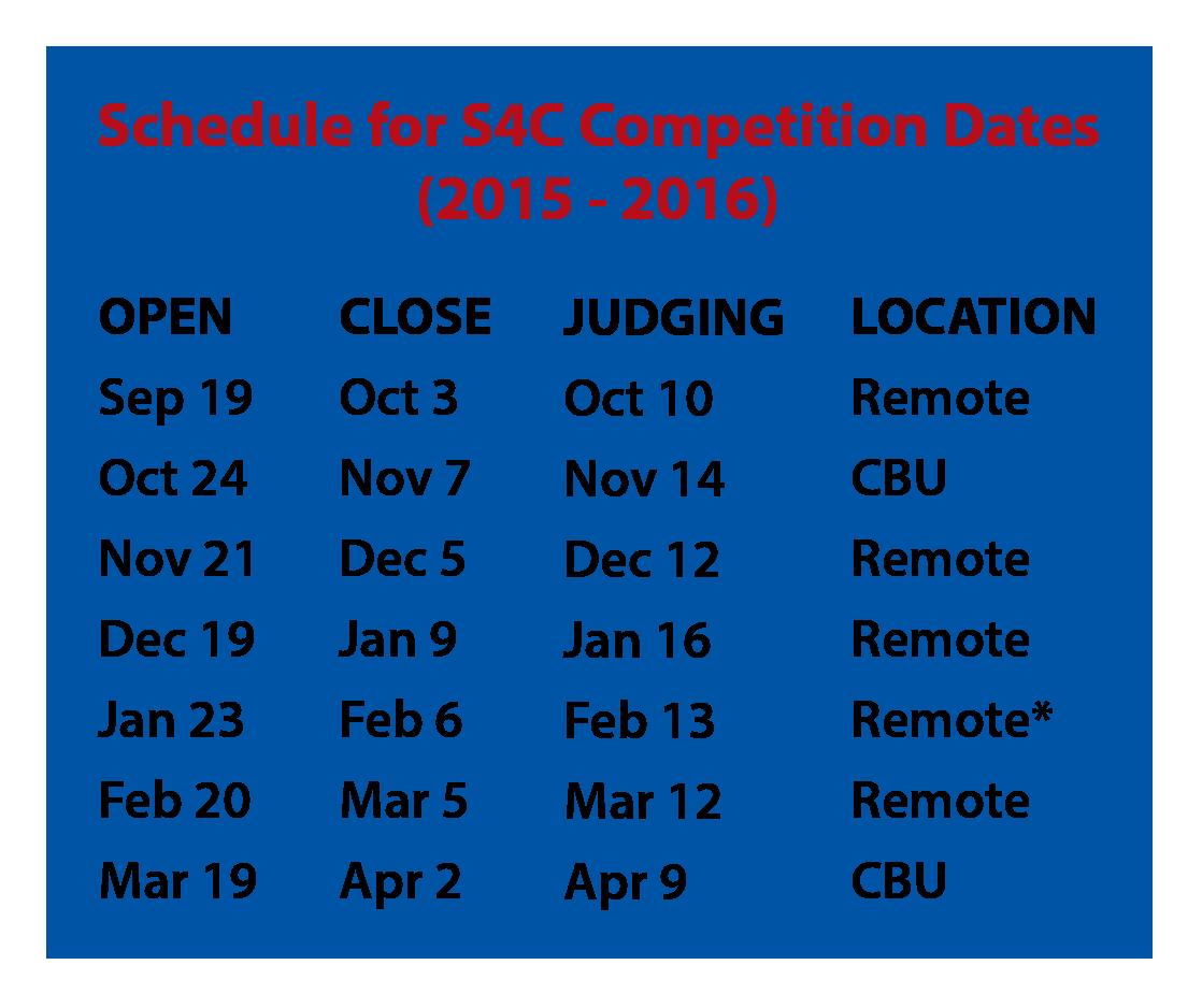 S4C Schedule 2015-16